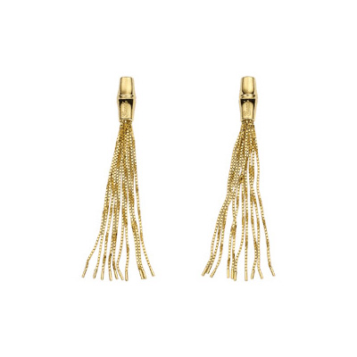 Bamboo Earrings, Yellow Gold