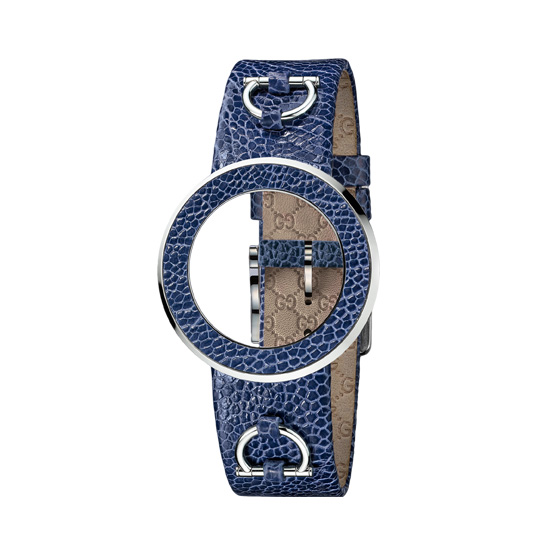 Kit U-Play M Blue ostrich bezel & strap