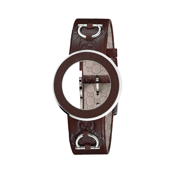 Kit U-Play M Brown leather bezel & strap