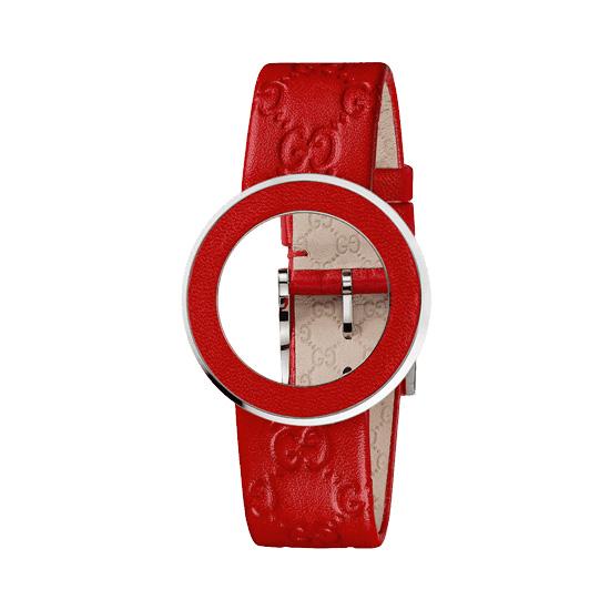 Kit U-Play M Red GG calf bezel & strap