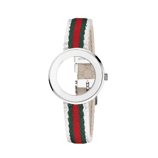 Kit U-Play S White Bezel/Red-green-red-white strap