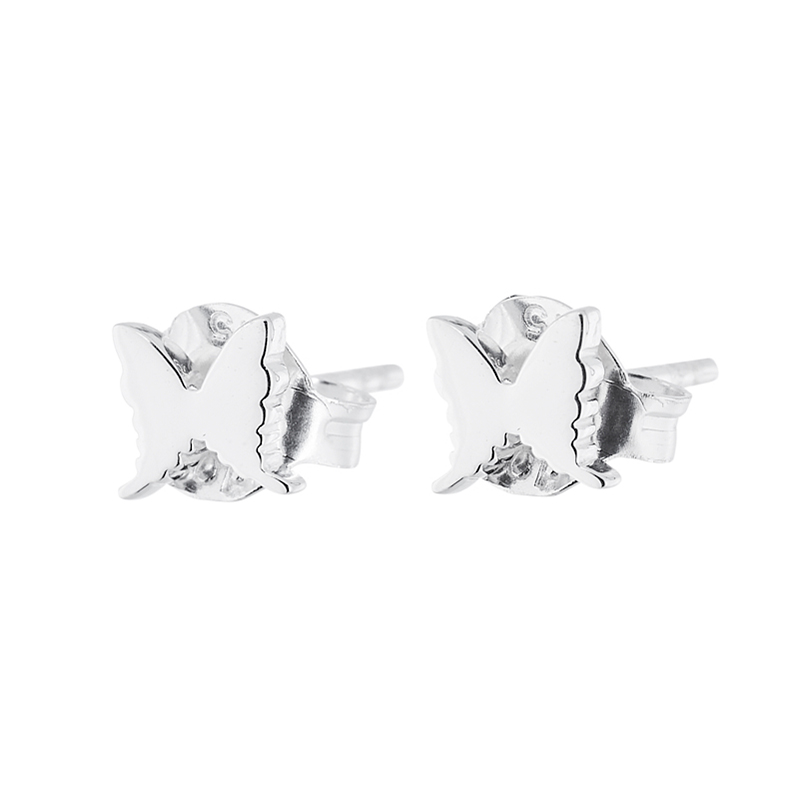 Petite Papillion Earrings 5mm, Sterling Silver