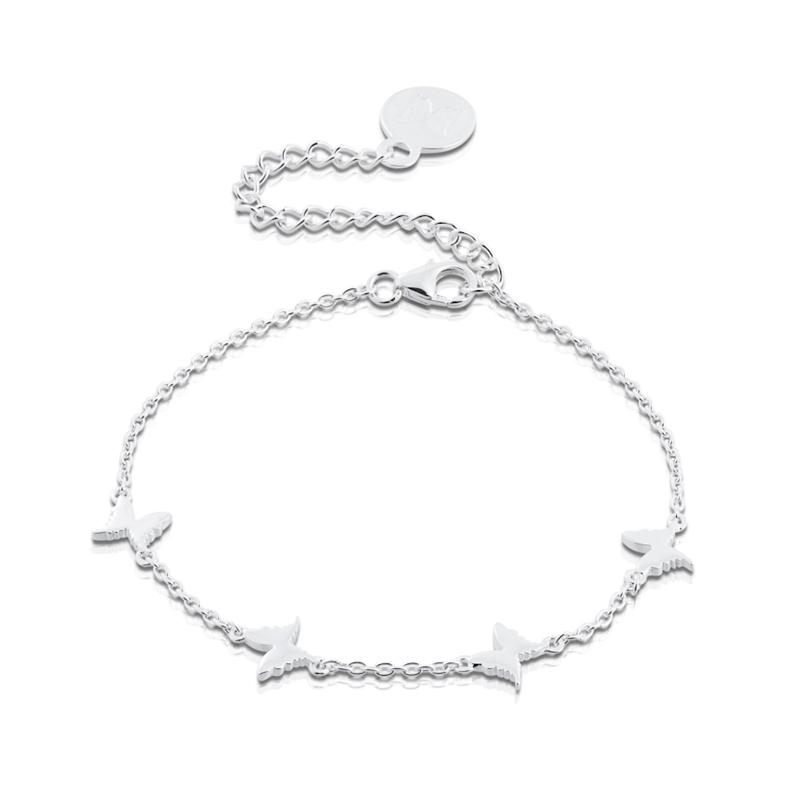 Petite Papillon Bracelet 16+4cm, Sterling Silver