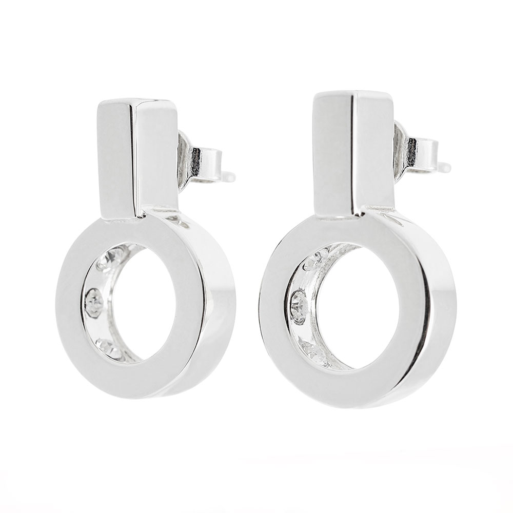 Strength Earrings, Sterling Silver