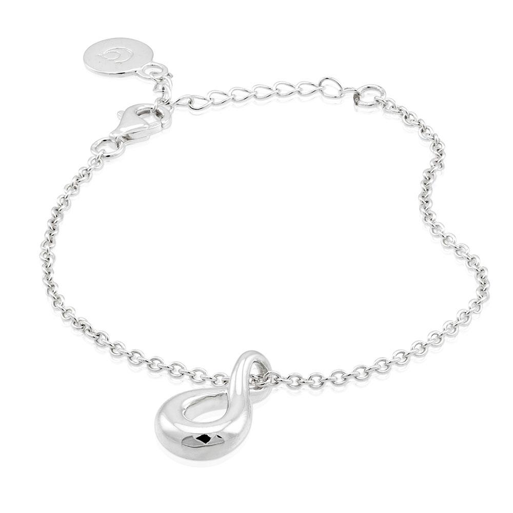 Eternity Drop Bracelet, Sterling Silver