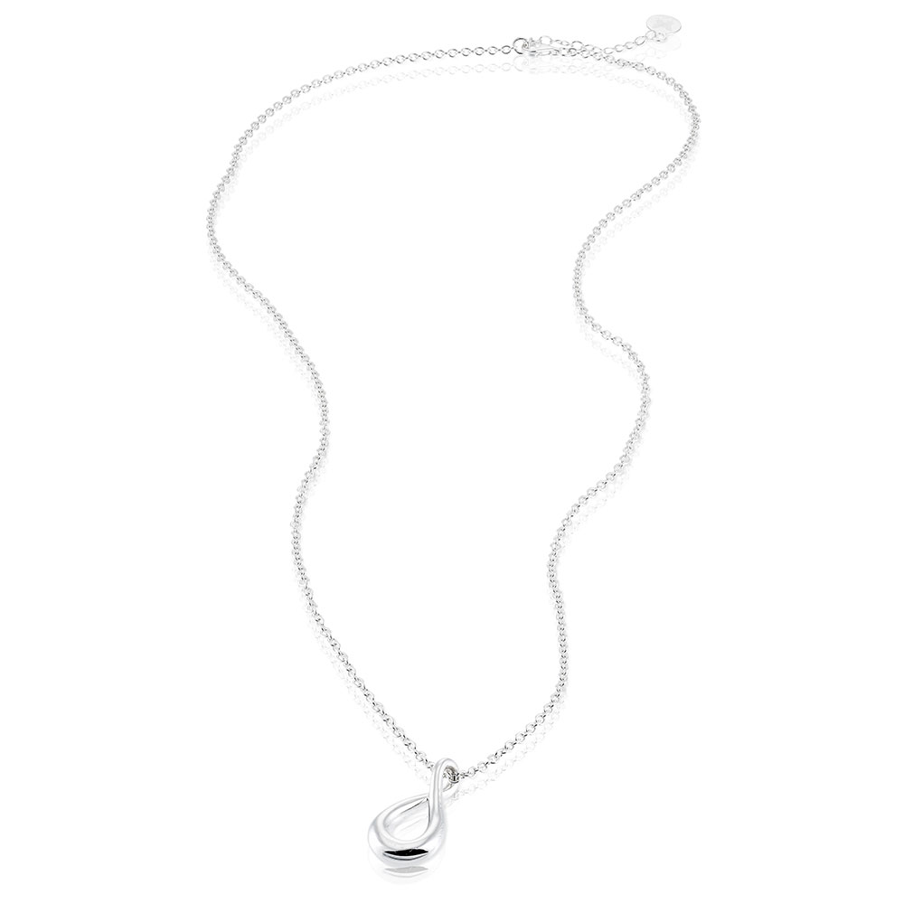 Eternity Drop Necklace Long, Sterling Silver