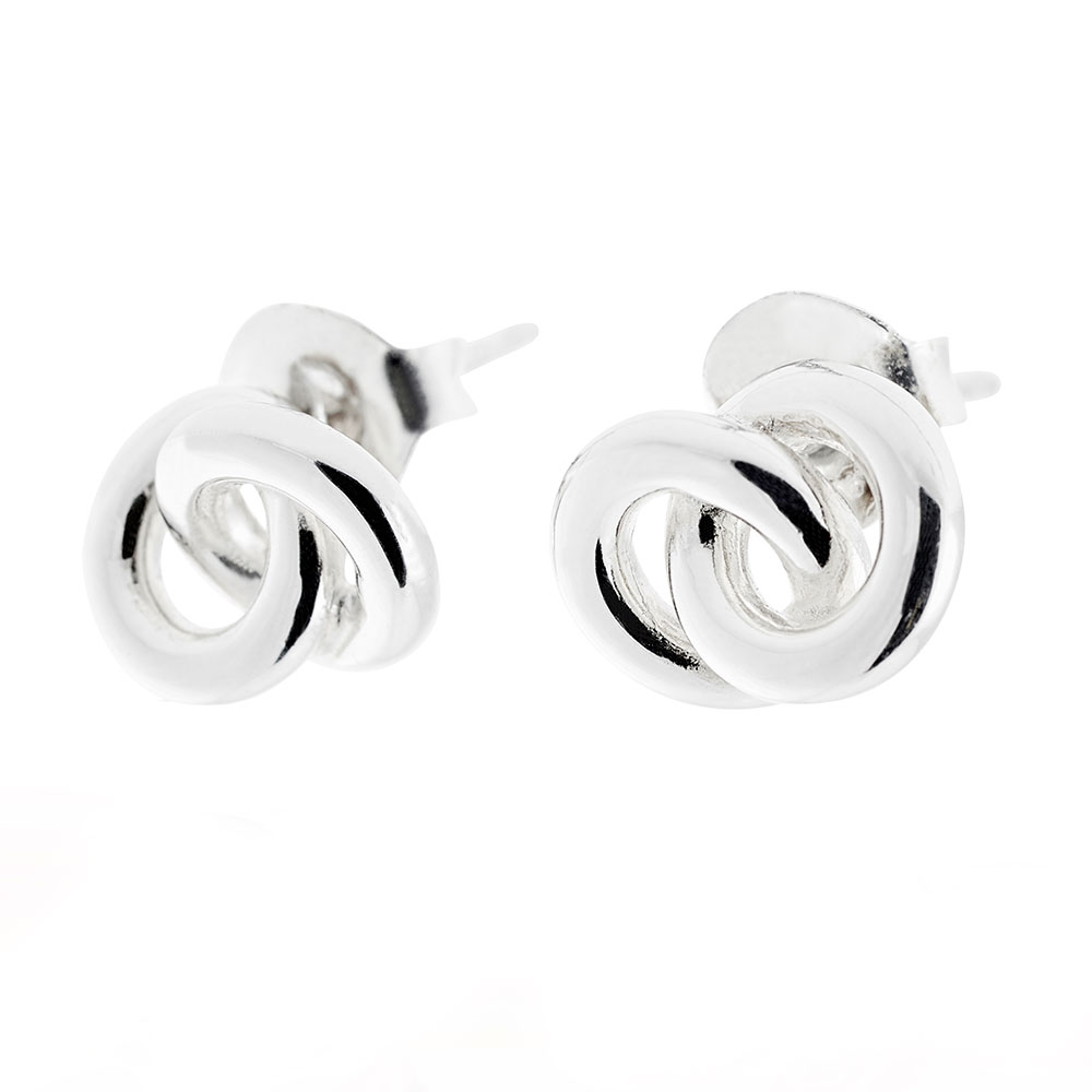 The Knot Earrings, Sterling Silver