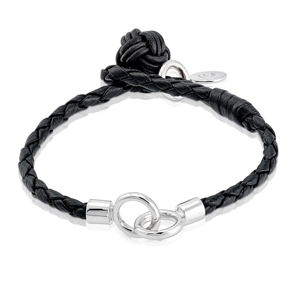 The Knot Bracelet 20,5 Cm, Sterling Silver/leather