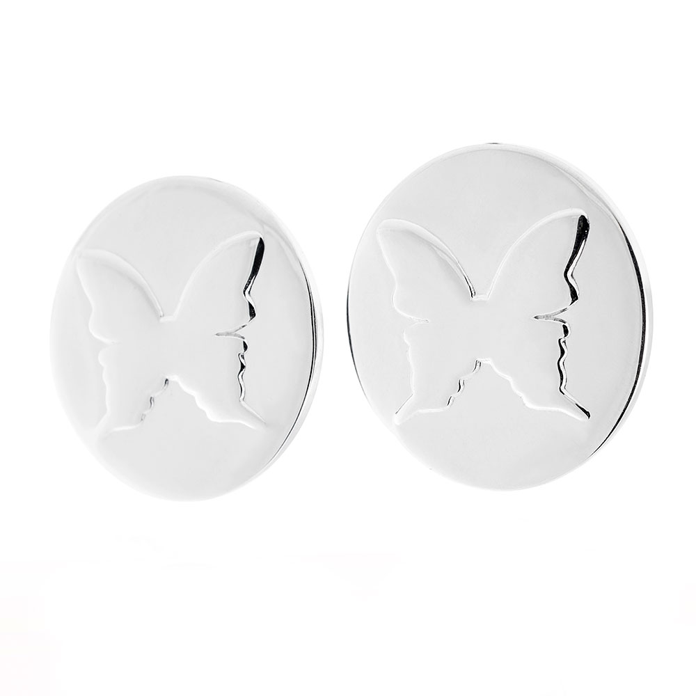 Amulett Earrings, Sterling Silver