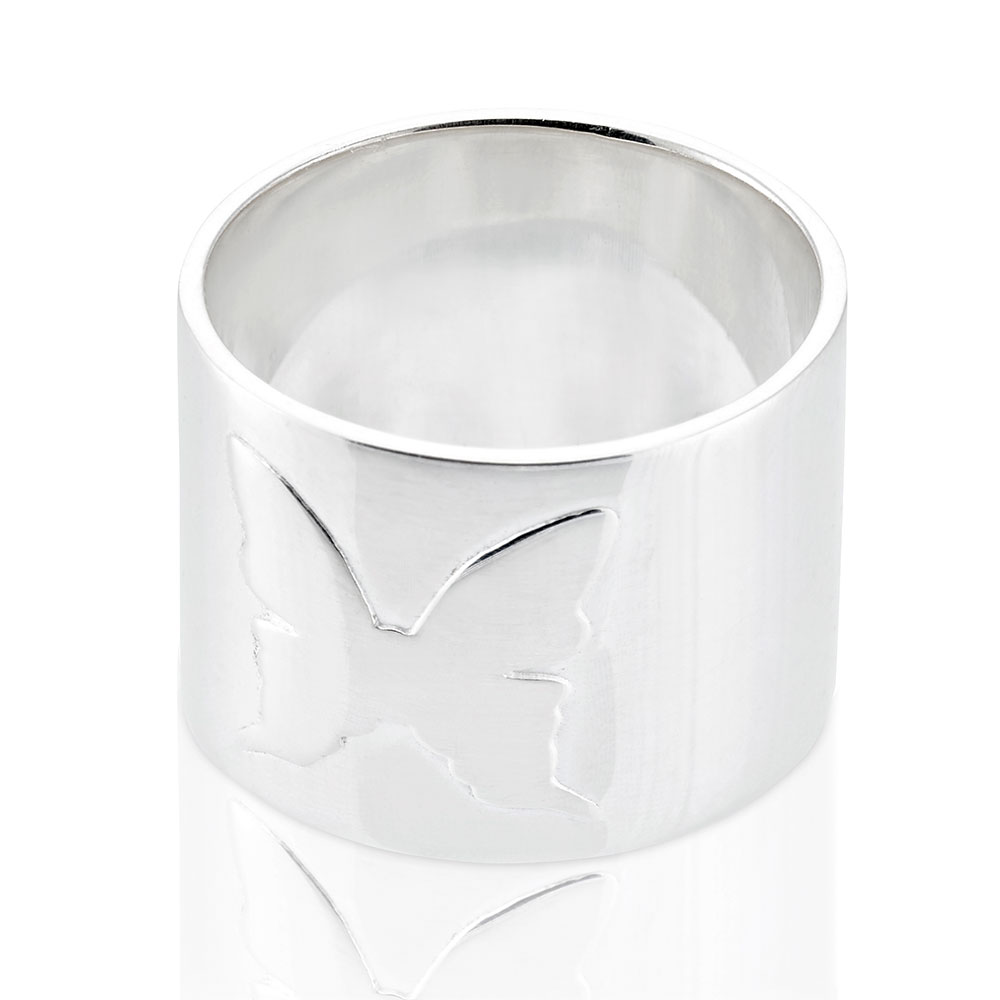 Amulett Ring, Sterling Silver