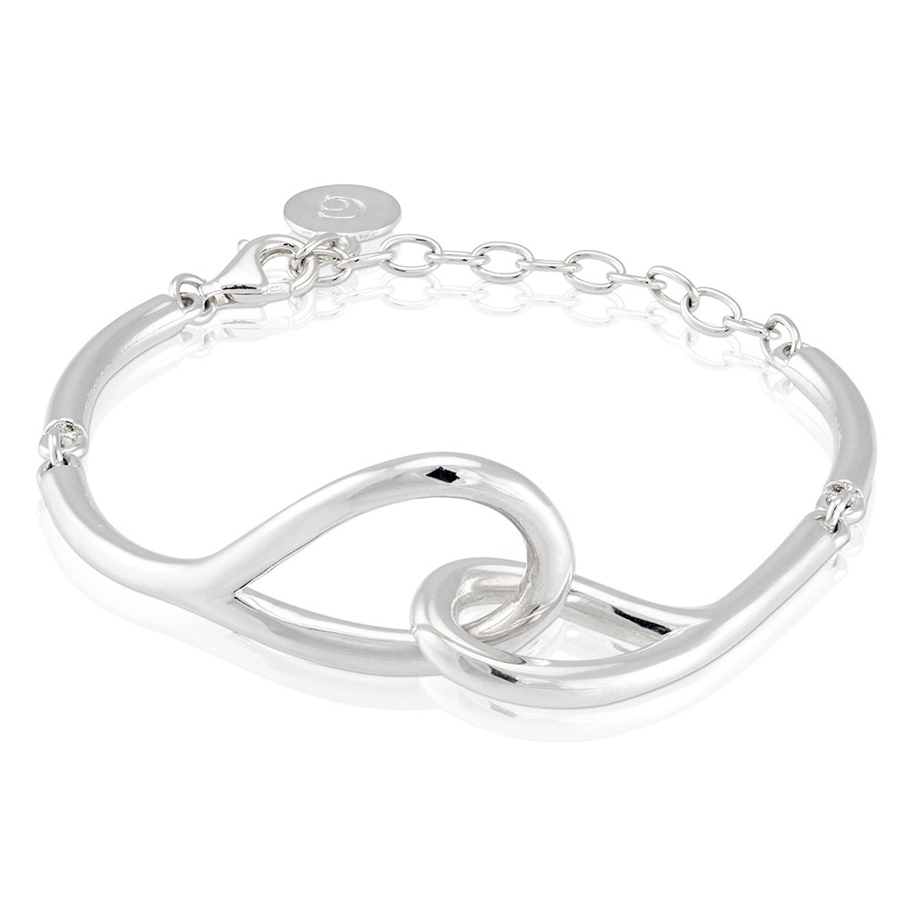 Mira Bracelet Wide, Sterling Silver