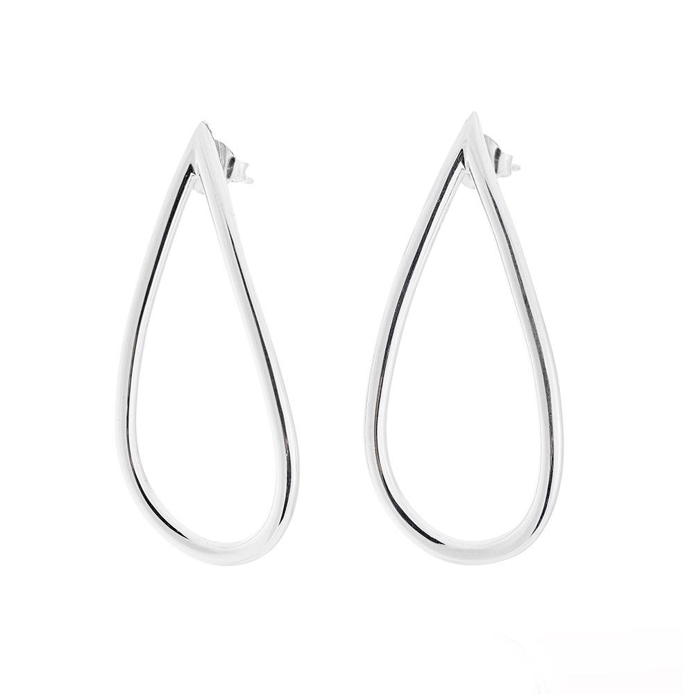Mira Earrings Large, Sterling Silver