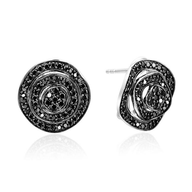 Sorrento Earrings, Black