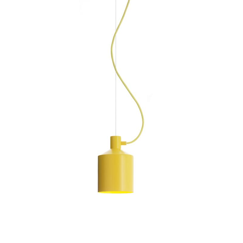 silo pendant light 15 cm yellow note design studio