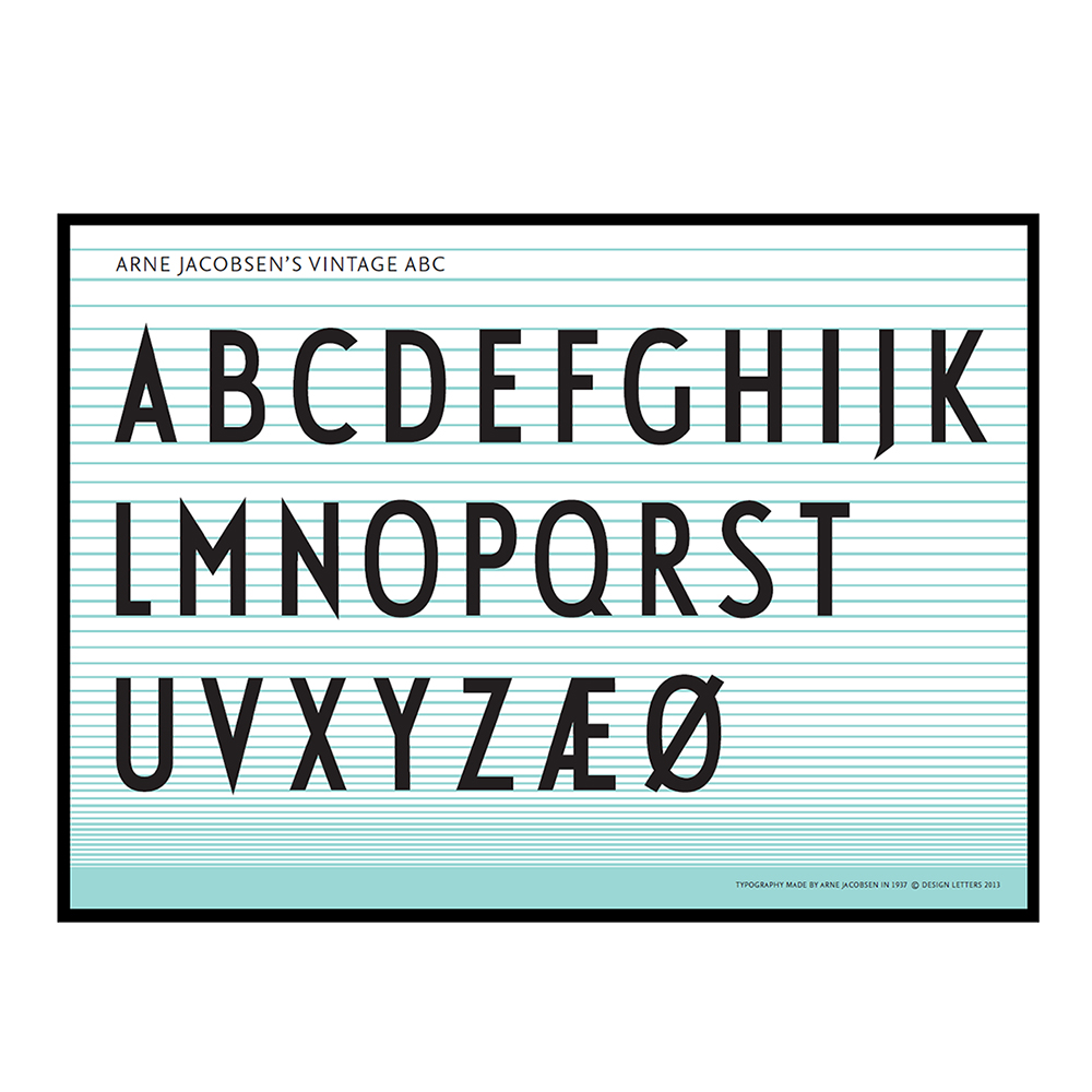 Design Letters, ABC Poster