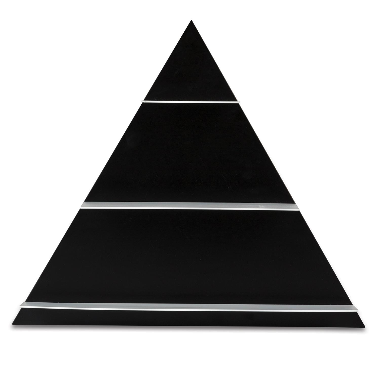 Black Paper Triangle Shelf