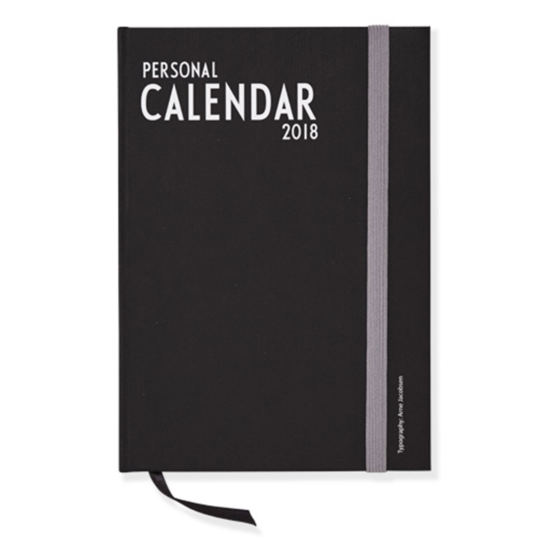 Design Letters A5 Calendar 2018, Black
