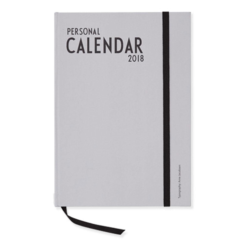 Design Letters A5 Calendar 2018 EU, Grey