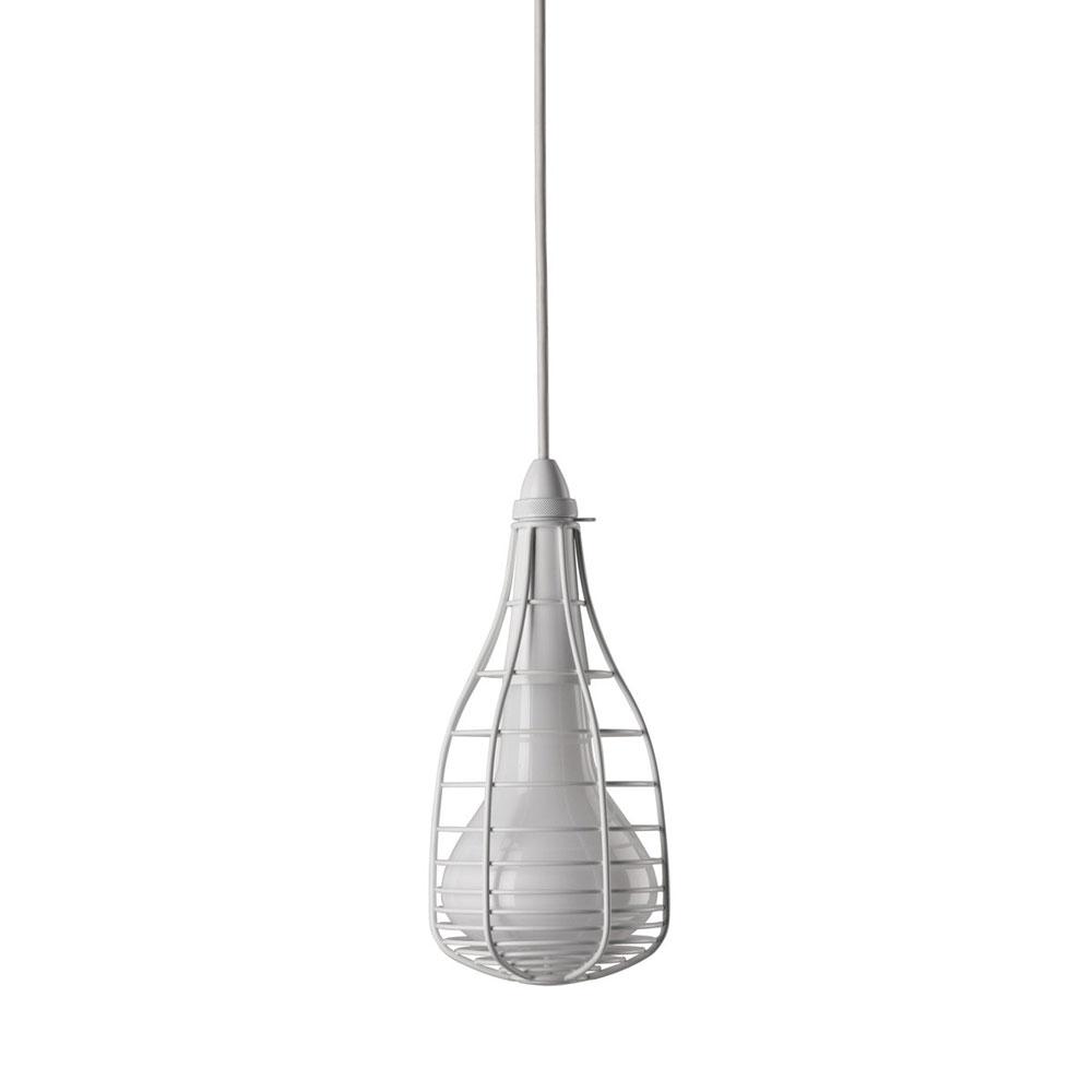 Cage Mic Suspension Lamp, White