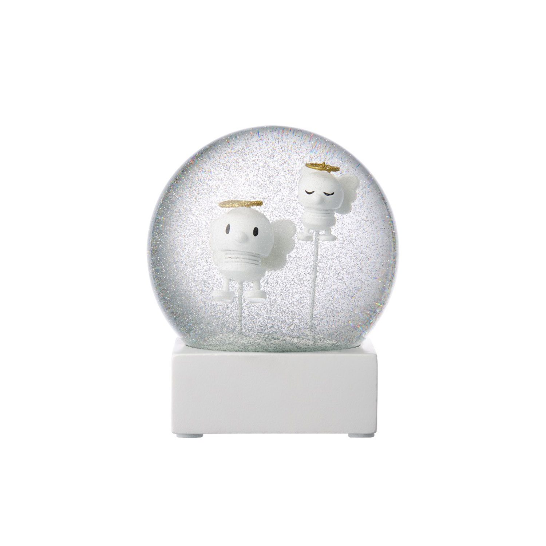 Angel Snow Globe, White