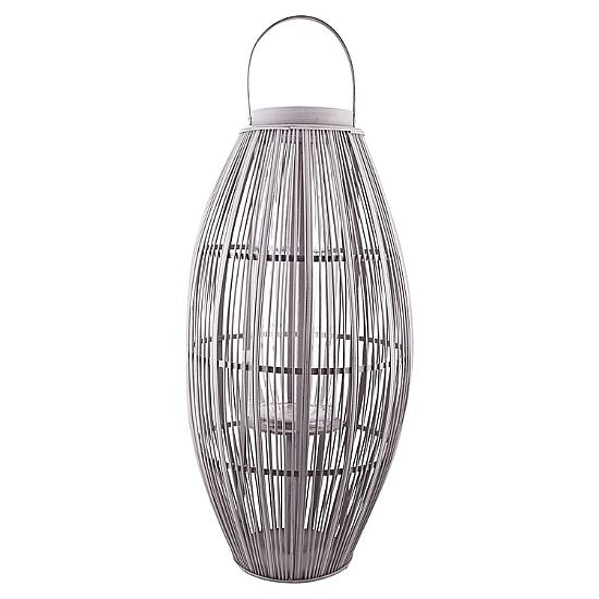 Aleta Candleholder, Large, Grey