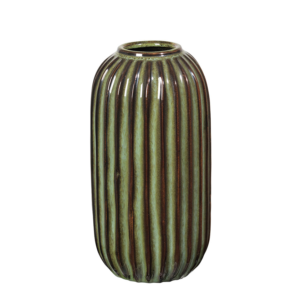 lines vase 20 cm oil green broste copenhagen broste. Black Bedroom Furniture Sets. Home Design Ideas