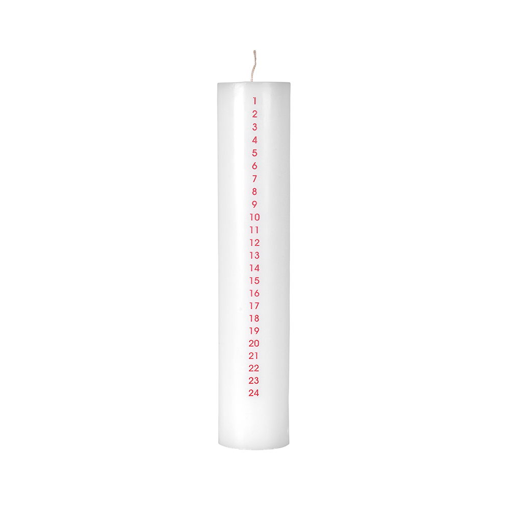 Advent Candle 25 cm, Red
