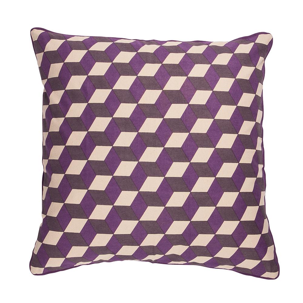 3D Cushion Cover, Grape Roy