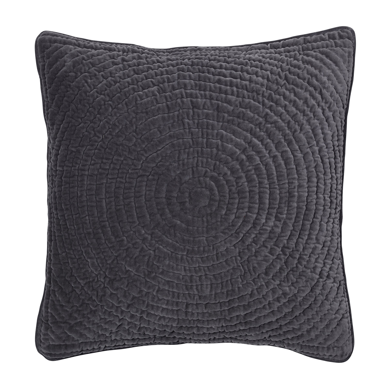 Quilt Ring Cushion Cover, Large, Dark Brown