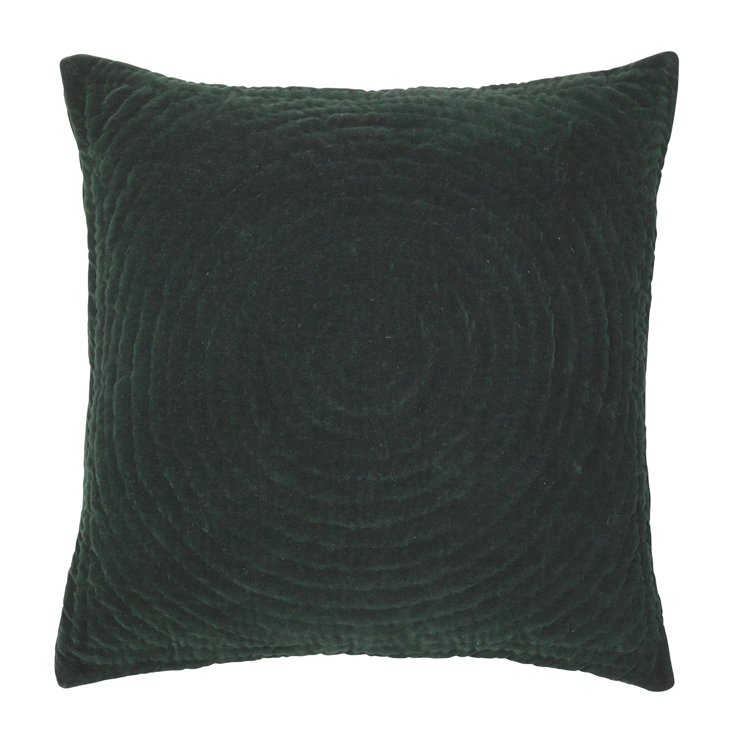 Quilt Ring Cushion Cover 60x60cm, Deep Forest