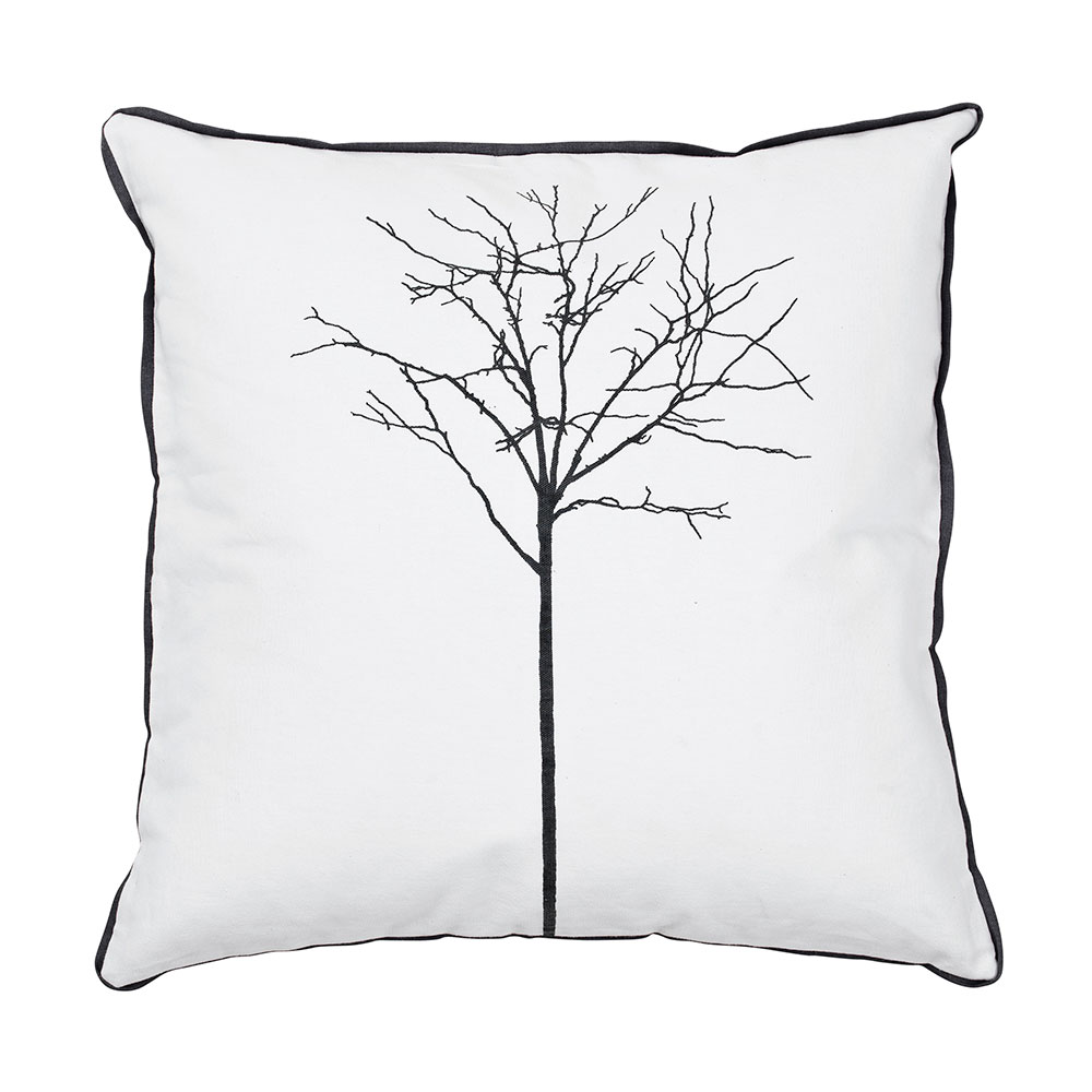 Tree Top Cushion Cover 50x50 Cm, White/castlerock