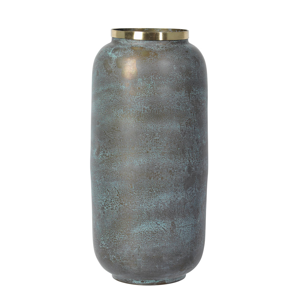 natalie vase 28 cm green brass brass broste copenhagen. Black Bedroom Furniture Sets. Home Design Ideas