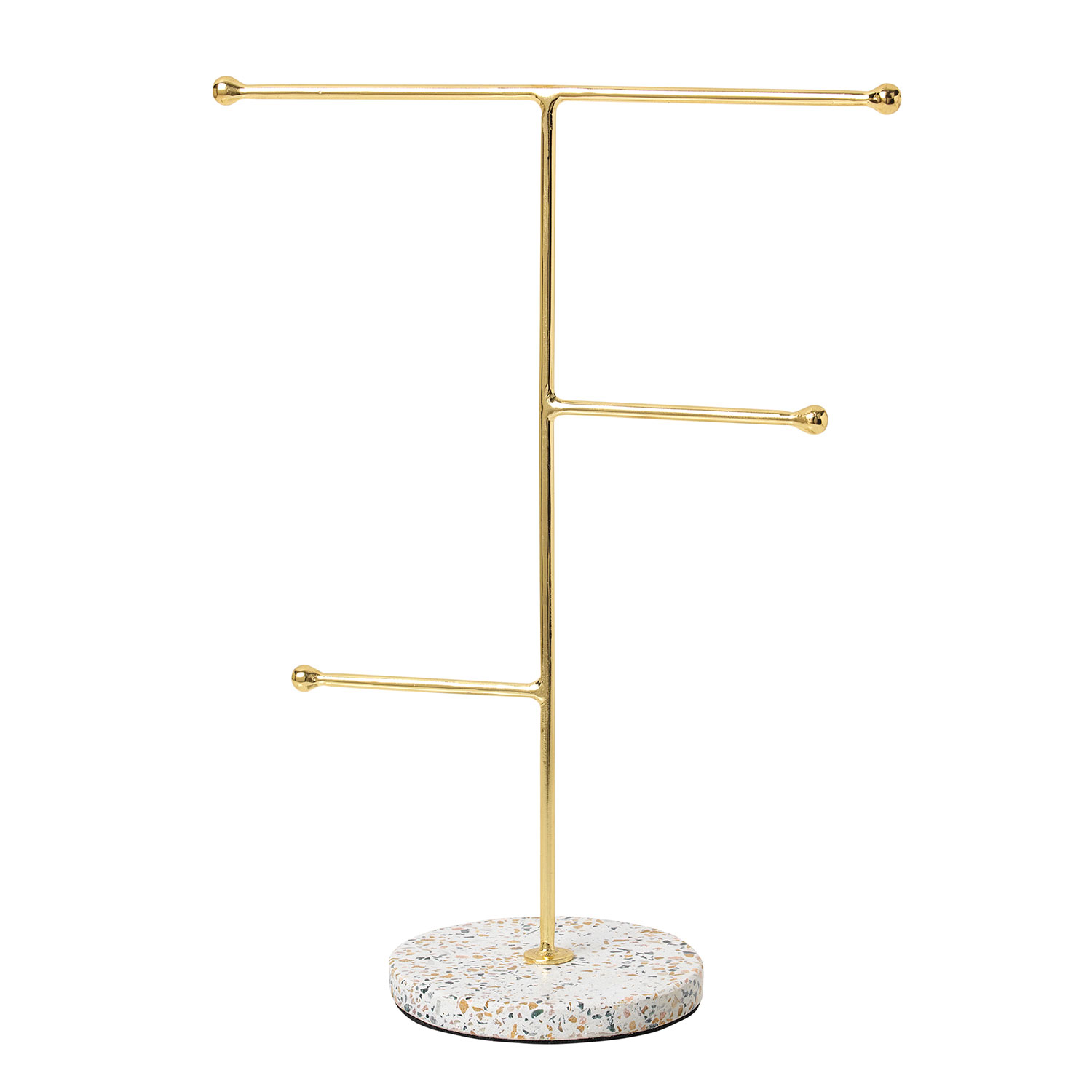 Gull Jewelry Organizer 30x23cm, White/ Brass