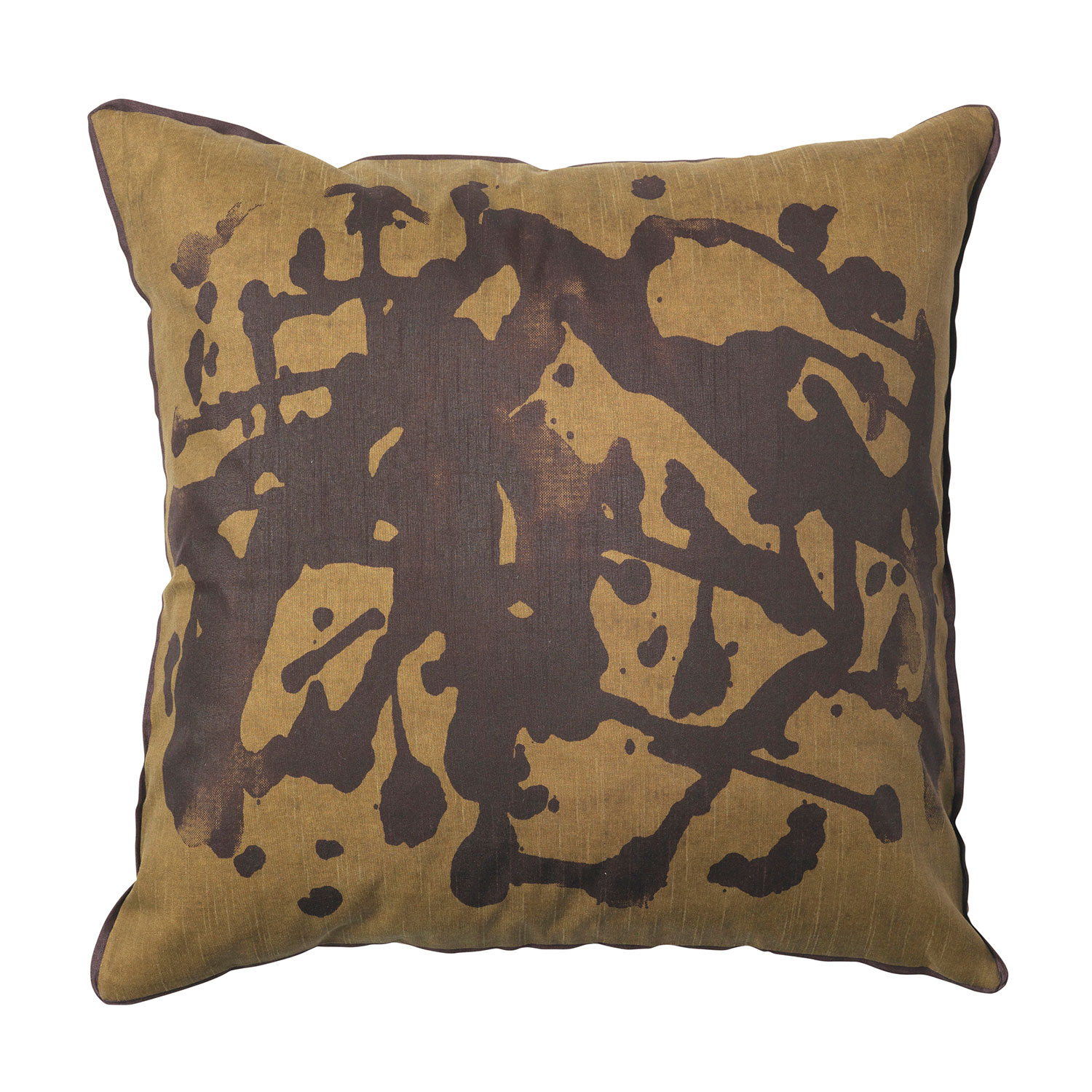 Distressed Cushion Cover 50x50cm, Dull Gold