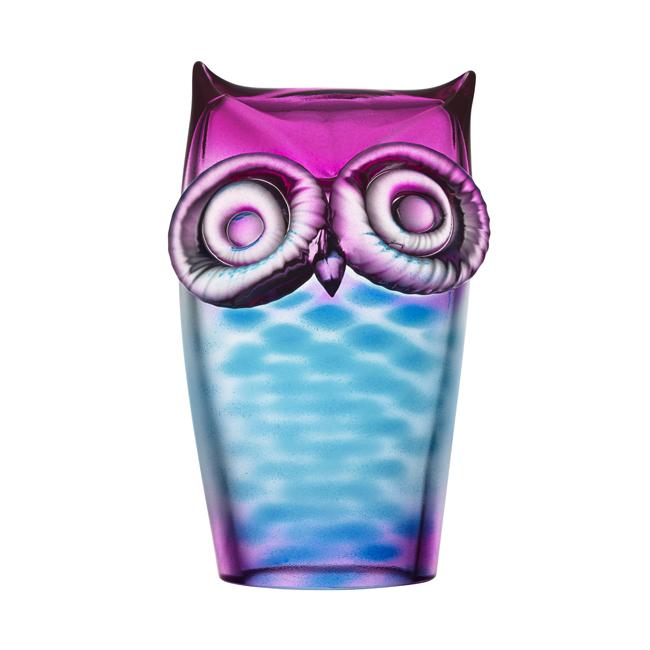 My Wide Life Owl Blue Pink Ludvig L 246 Fgren Kosta Boda