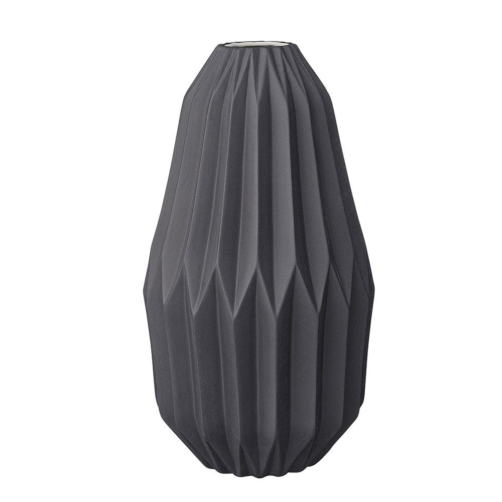 bloomingville vase 33 5cm black bloomingville. Black Bedroom Furniture Sets. Home Design Ideas