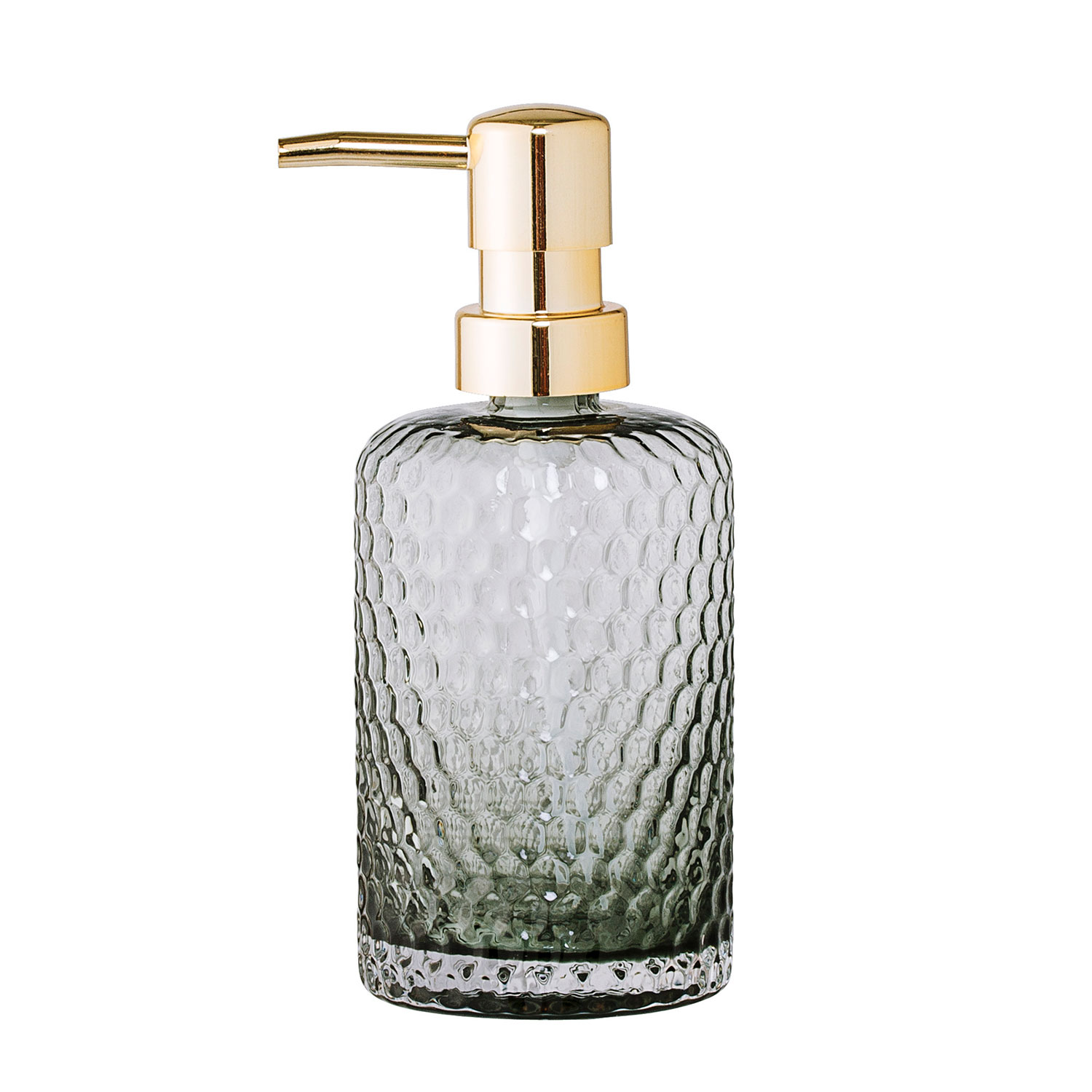 Soap dispenser grey bloomingville bloomingville for Green glass bath accessories