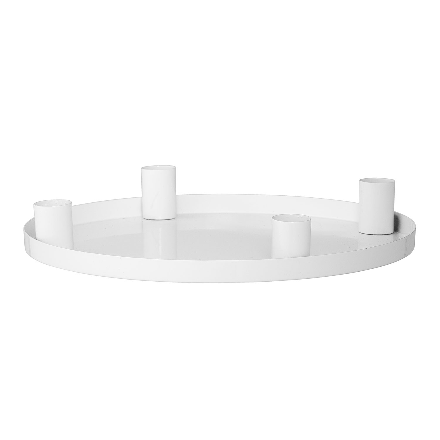 Advent Candle Holder, White