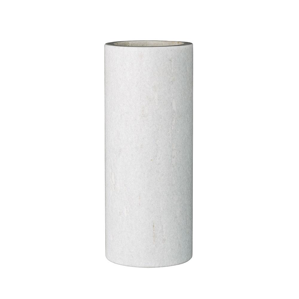 marble vase 16cm white bloomingville bloomingville. Black Bedroom Furniture Sets. Home Design Ideas