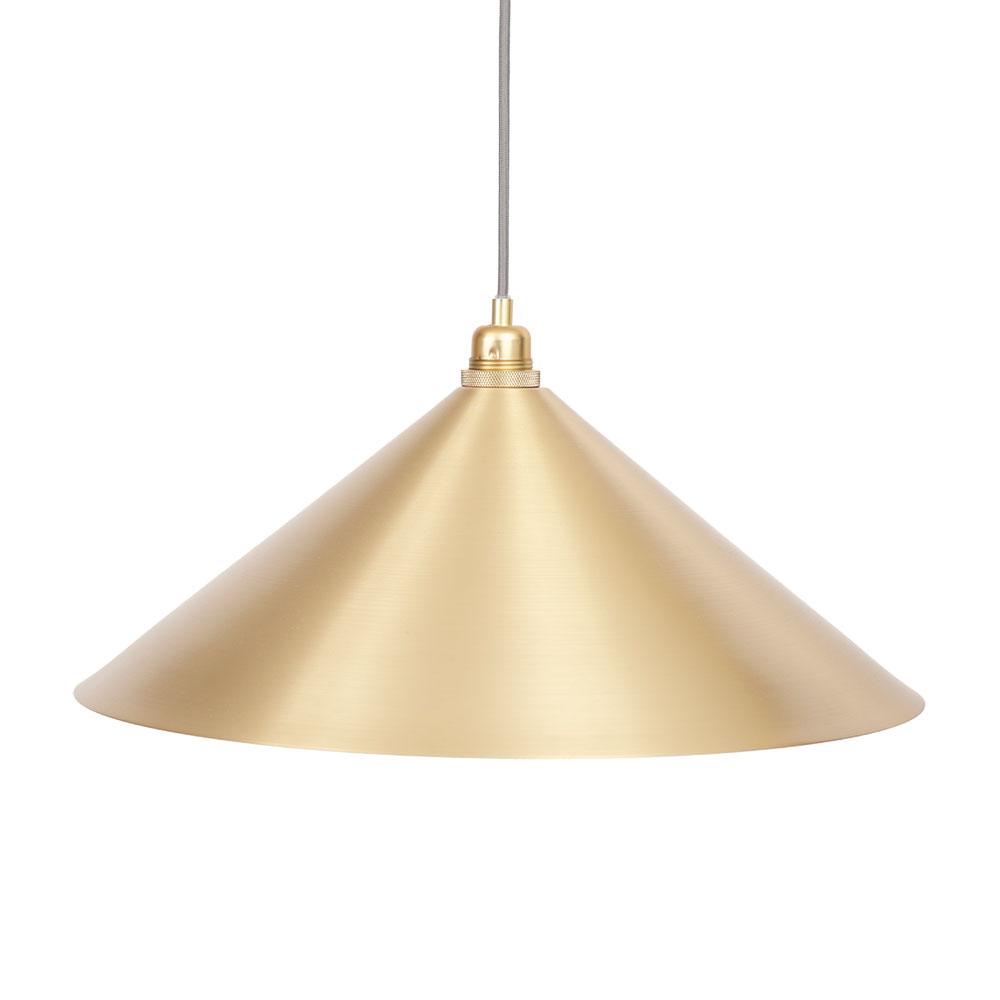 Cone Lampshade Small, Brass