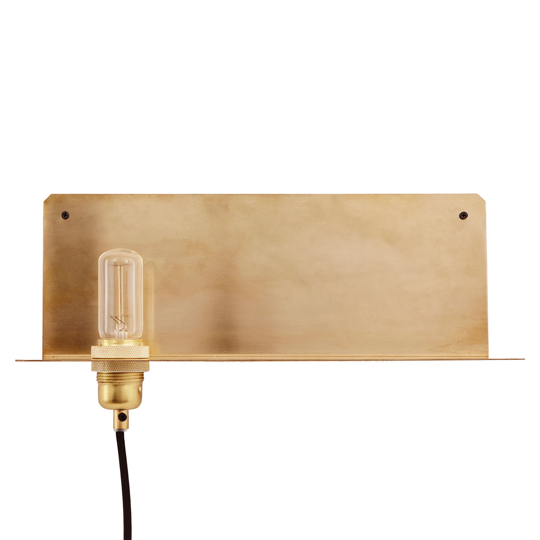 90° Wall Light Lamp Shelf, Brass