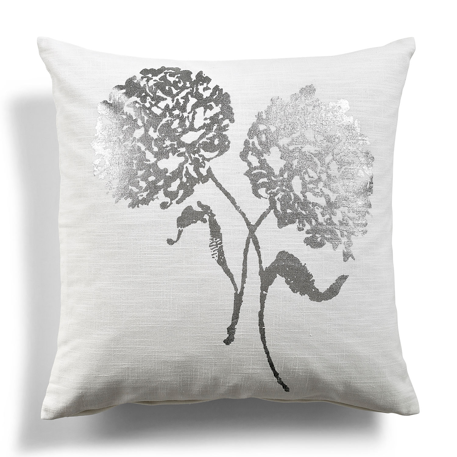 Day Bold Flower Cushion Cover, White