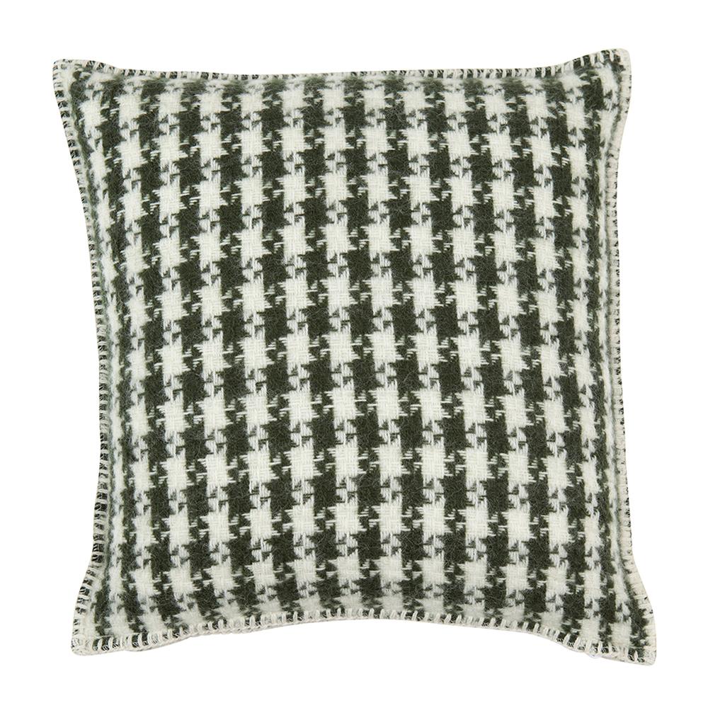 Tweed Cushion Cover 45x45 Cm, Dark Green