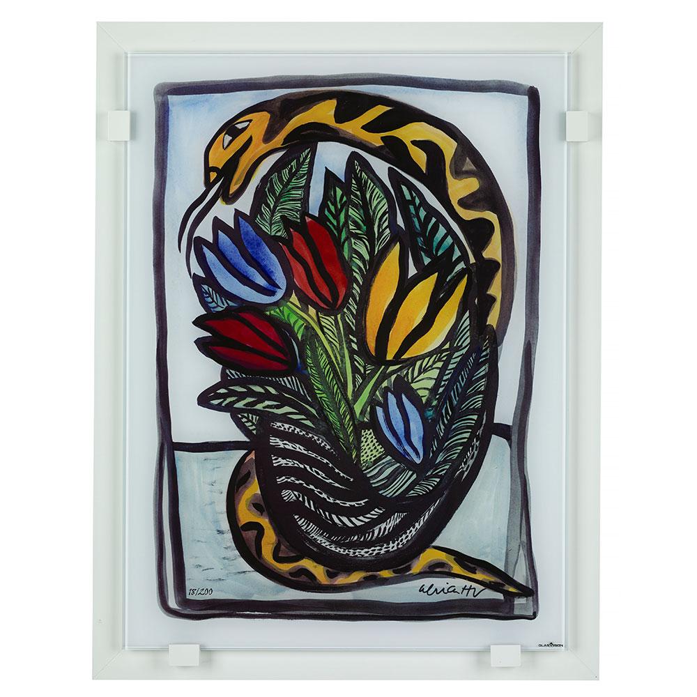 Bukett Till Dej Glass Painting Ltd