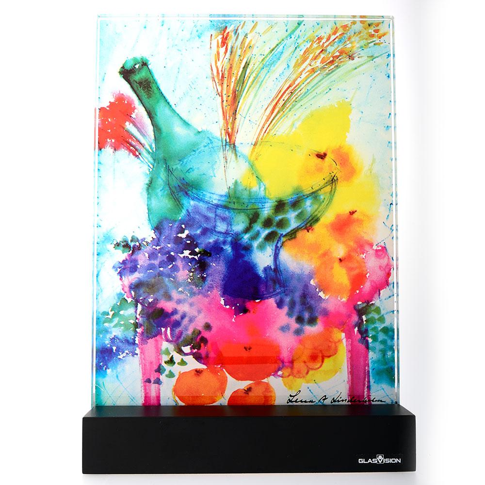 Champagnefrukost Glass Painting