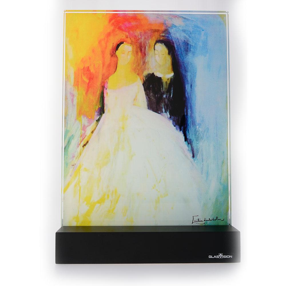 Bröllopspar Glass Painting