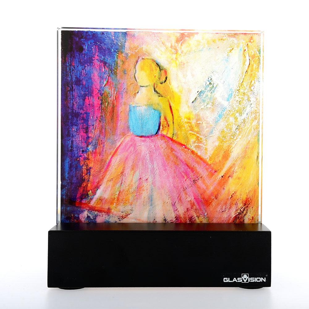 Ballerina Glass Painting