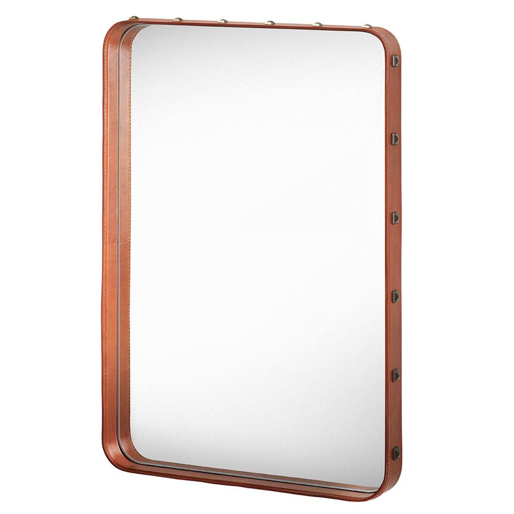 Adnet Mirror 70x48cm, Brown
