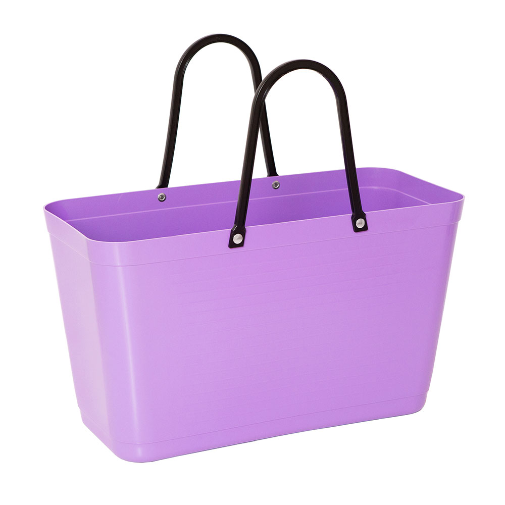 Hinza Bag Large Green Plastic, Purple