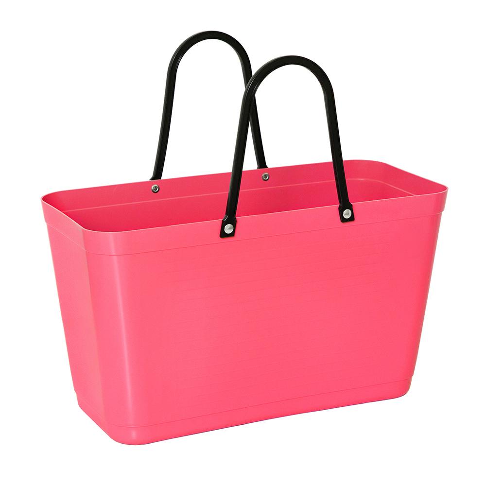 Hinza Bag Large Green Plastic, Tropical Pink